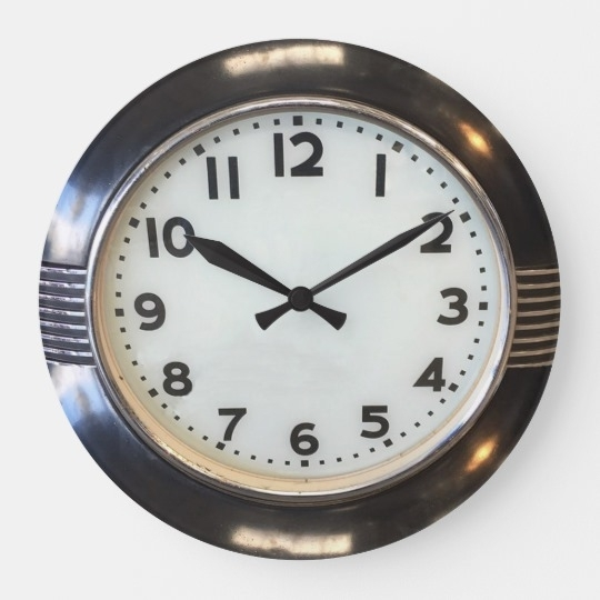 Vintage 1930's Style Art Deco Wall Clock | Zazzle Throughout Art Deco Wall Clock (Photo 2 of 25)
