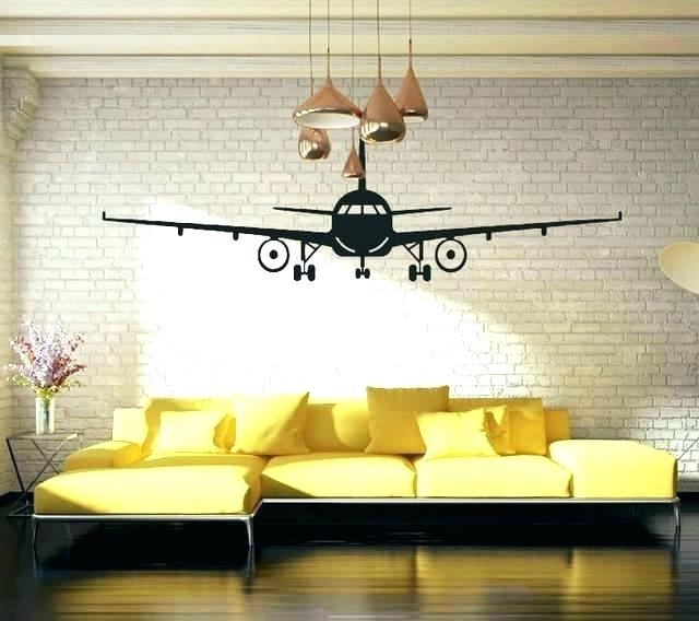 Vintage Airplane Wall Art Vintage Airplane Wall Decor Airplane Wall In Aviation Wall Art (Image 23 of 25)