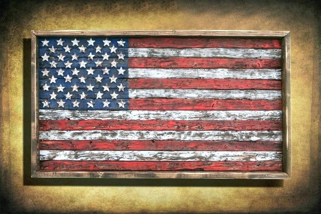 Vintage American Flag Wall Art Living Room Fabulous Flag Wall Art In Vintage American Flag Wall Art (View 20 of 25)
