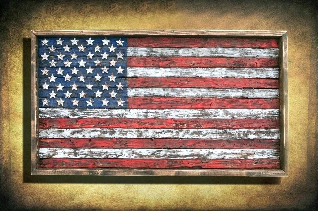 Vintage American Flag Wall Art Living Room Fabulous Flag Wall Art in Vintage American Flag Wall Art