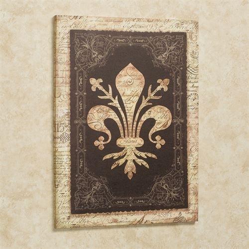 Vintage Fleur De Lis Canvas Wall Art Within Fleur De Lis Wall Art (Image 24 of 25)