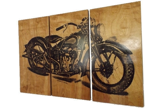 Vintage Motorcycle Screen Vintage Motorcycle Wall Art – Wall For Motorcycle Wall Art (Image 25 of 25)