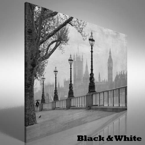 Vintage View Of London Canvas Print Large Picture Wall Art | Ebay With Regard To London Wall Art (Photo 16 of 25)