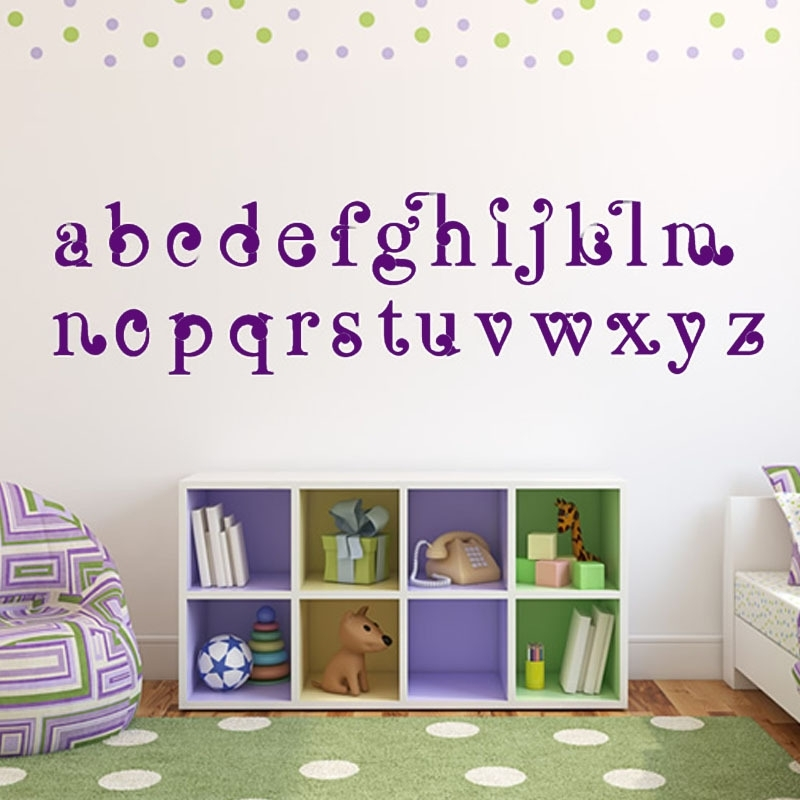 Vinyl Art Abc Alphabet Wall Stickers Kids Room Decorative Diy With Alphabet Wall Art (Image 23 of 25)