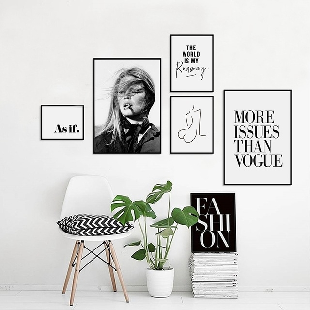 Vogue Picture Nordic Canvas Painting Fashion Wall Art Print , Trendy pertaining to Fashion Wall Art