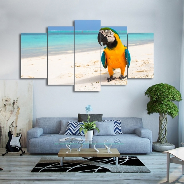 Wall Art Canvas Hd Print Frame Pictures Home Decor Living Room 5 For Bird Framed Canvas Wall Art (Image 24 of 25)