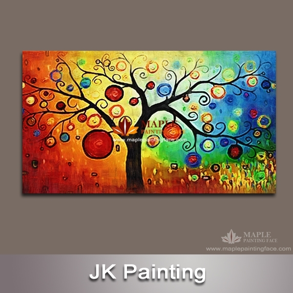Wall Art Canvas Huge Decorative Money Tree Painting Wall Pictures With Living Room Painting Wall Art (View 16 of 25)