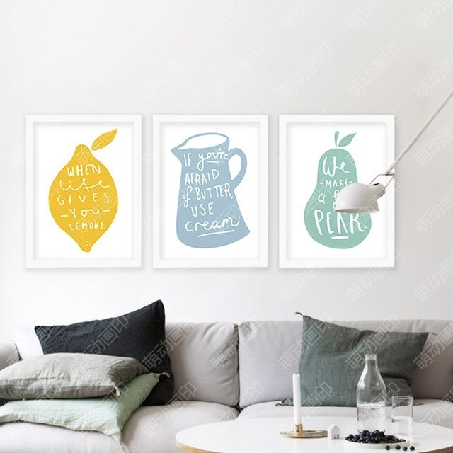 Wall Art Canvas Lemon Posters And Prints Wall Painting Art Print With Lemon Wall Art (Image 19 of 20)