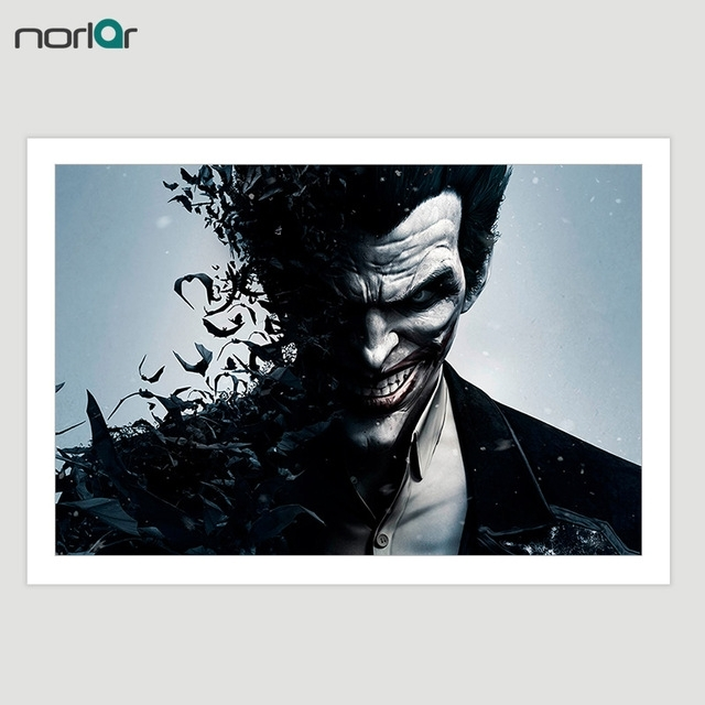 Wall Art Canvas Movie Poster Batman Joker Canvas Painting Printings In Joker Wall Art (Image 18 of 20)