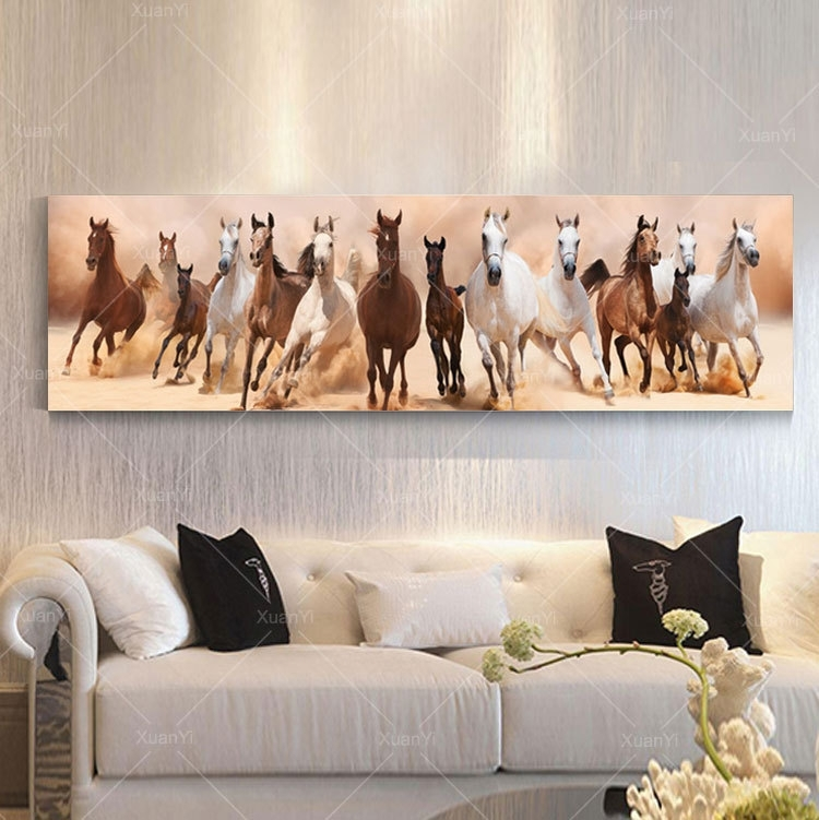 Wall Art Canvas Oil Painting Beautiful Landscape Horse Picture Pertaining To Horses Wall Art (Image 17 of 20)