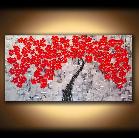 Wall Art Canvas Painting Extra Wall Art Red Modern Art Wall Modern Inside Modern Painting Canvas Wall Art (View 21 of 25)
