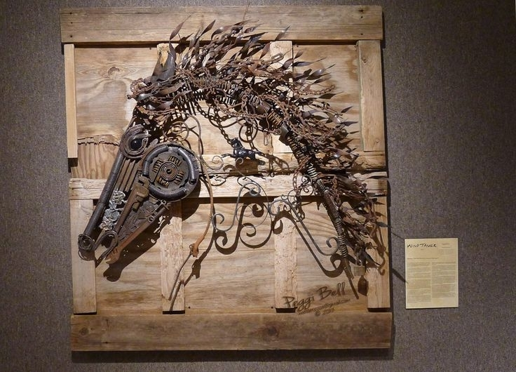 Wall Art Decor Scrap Horse Iron Metal Wall Art Outdoor Exterior In Wall Art Metal (Image 20 of 25)