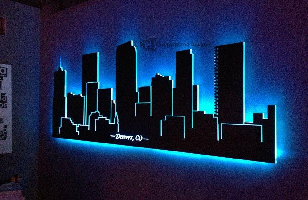 Wall Art Design Ideas: Christmas Led Lighted Wall Art Decorations Intended For Lighted Wall Art (View 5 of 20)