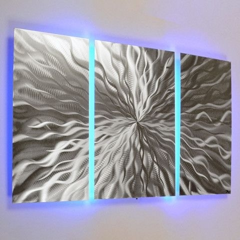 Wall Art Design Ideas: Christmas Lighted Wall Art Sample Led Pertaining To Lighted Wall Art (View 11 of 20)