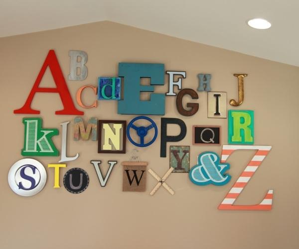 Wall Art Design Ideas: Playroom Decorations Alphabet Wall, Abc Within Alphabet Wall Art (Image 25 of 25)