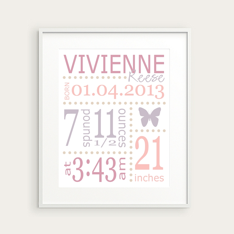 Wall Art Designs: Best Themed Personalized Wall Art For Nursery Pertaining To Personalized Wall Art (Image 10 of 10)