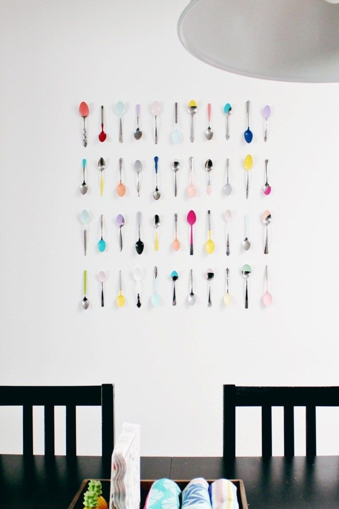 Wall Art Diy | Decor Hacks | Pinterest | Kitchen Wall Art, Spoon And With Wall Art For Kitchen (Image 18 of 20)