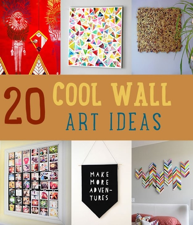 Wall Art Diy Projects Craft Ideas & How To's For Home Decor With Videos Within Diy Wall Art Projects (Image 25 of 25)
