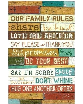 Wall Art Family Rules Wall Art Family Rules S Personalized Family Throughout Family Rules Wall Art (Image 19 of 20)