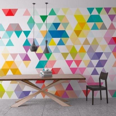 Wall Art Geometric Mid Century Triangles | Mid Century, Triangle And Regarding Geometric Wall Art (View 5 of 20)