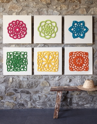 Wall Art – Home – Spring / Summer – Models & Patterns | Katia Pertaining To Crochet Wall Art (View 4 of 20)