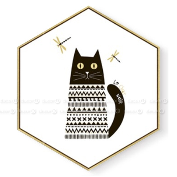 Wall Art Hong Kong – Affordable Art Hk – D8 Artworks – Hexagon Regarding Cat Canvas Wall Art (View 20 of 25)