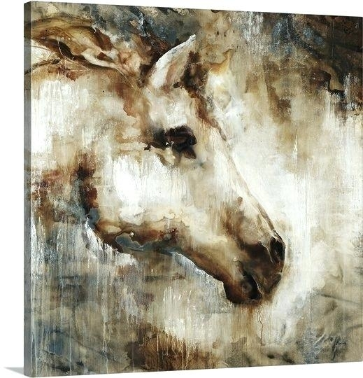 Wall Art Horses Wall Art Design Horse Canvas Square Brown Head Within Horses Wall Art (Image 18 of 20)