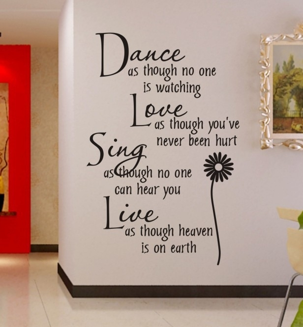 Wall Art Ideas Design Adorable Fearsome Inspirational Quotes On Intended For Inspirational Quotes Wall Art (Image 20 of 25)