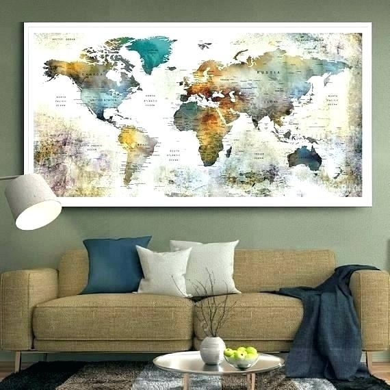 Wall Art Maps A Wall Art Old Maps Custom Wall Art Maps Pertaining To Wall Art World Map (Image 18 of 25)