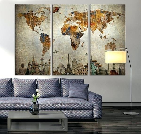 Wall Art Maps Laser Cut Wood Map Wall Artcool Wall Art Maps Throughout Wall Art Map Of World (Image 13 of 25)