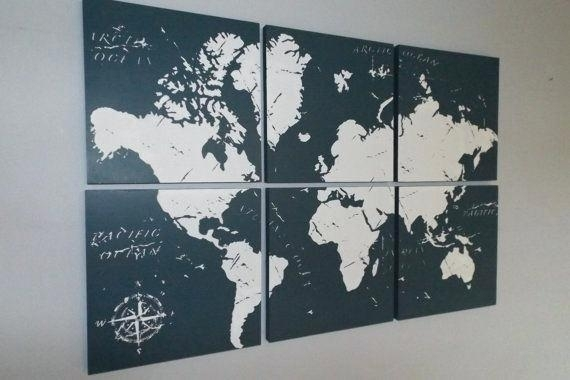 Wall Art Maps Laser Cut Wood Map Wall Artcool Wall Art Maps Within Wall Art Map Of World (Image 14 of 25)