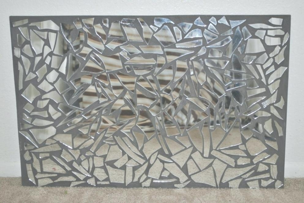 Wall Art Mirrored Mirrored Frames For Art Mirrored Frame Artwork Throughout Mirror Mosaic Wall Art (Image 25 of 25)