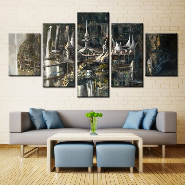 Wall Art Pictures Modern Hd Printed Painting 5 Panel Lord Of The For Lord Of The Rings Wall Art (View 5 of 20)