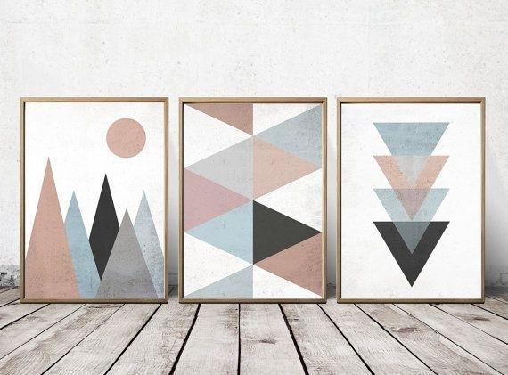 Wall Art Prints – Abstract Art Prints – Geometric Decor Abstract With Geometric Wall Art (View 2 of 20)