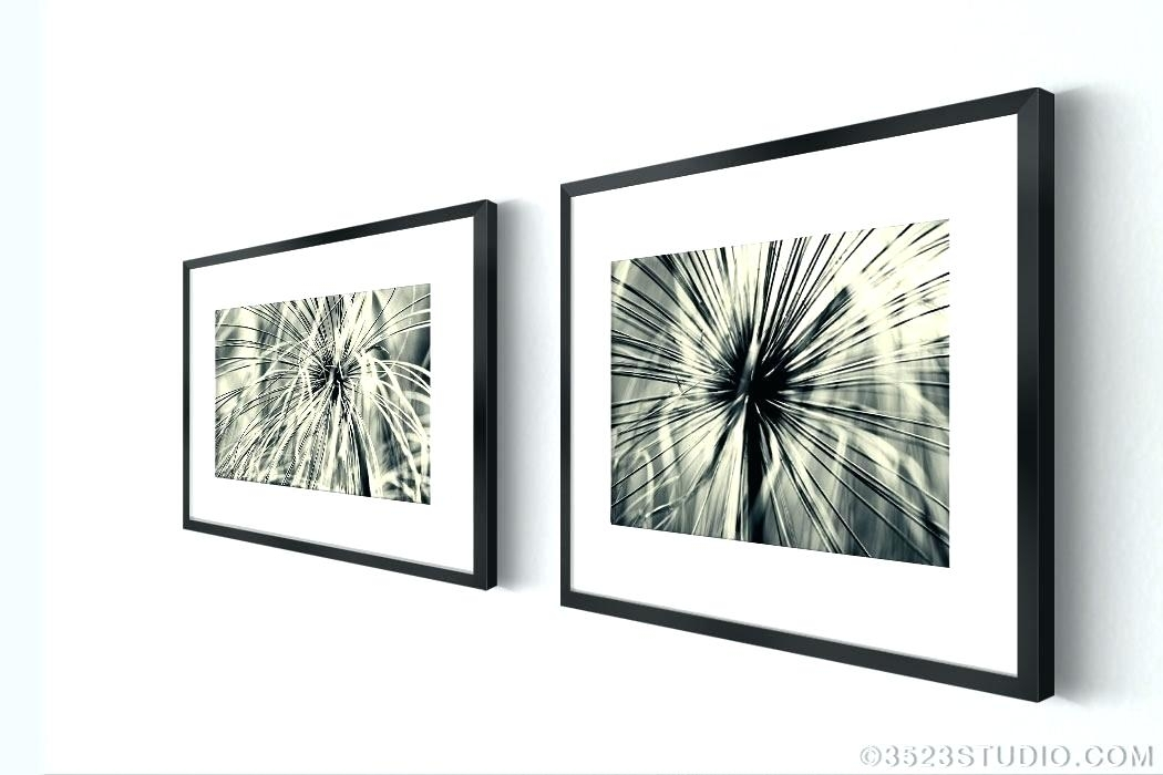 Wall Art Set Of 4 Framed Art Sets Abstract Grass From Flower Power In Wall Art Sets (Image 9 of 10)