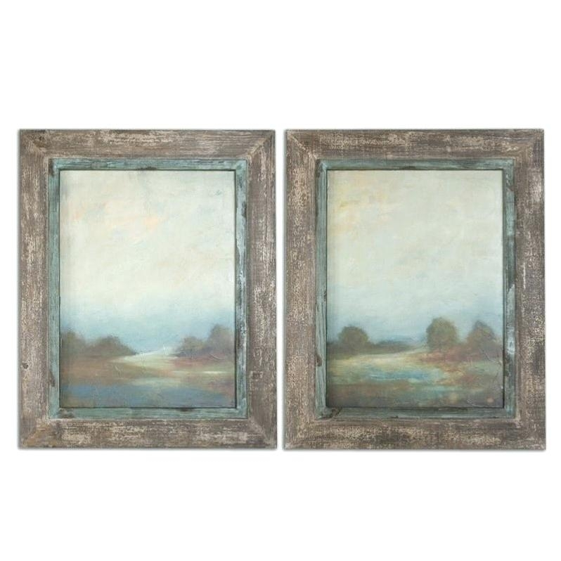 Wall Art Sets Set Of 4 Wall Art Framed Art Sets Within Touch Of Blue Regarding Set Of 2 Framed Wall Art (Image 22 of 25)