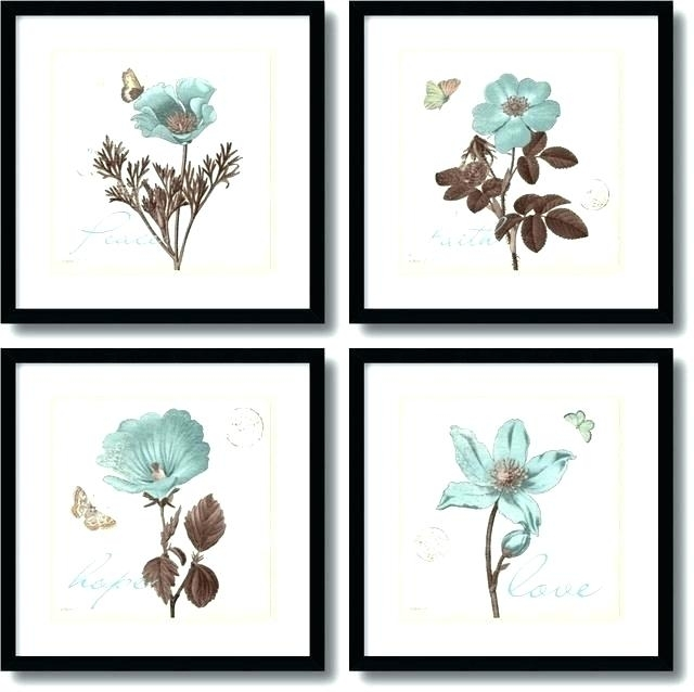 Wall Art Sets Set Of 4 Wall Art Framed Art Sets Within Touch Of Blue With Set Of 2 Framed Wall Art (Image 23 of 25)