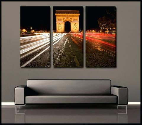 Wall Art Sets The Arc 3 Piece Fine Art Canvas Wall Display Canvas Inside 3 Piece Canvas Wall Art (Image 20 of 20)