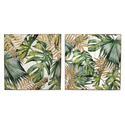 Wall Art  Tropical Leaves Set Of 2 | Higheight Home & Living For Tropical Wall Art (Image 20 of 20)
