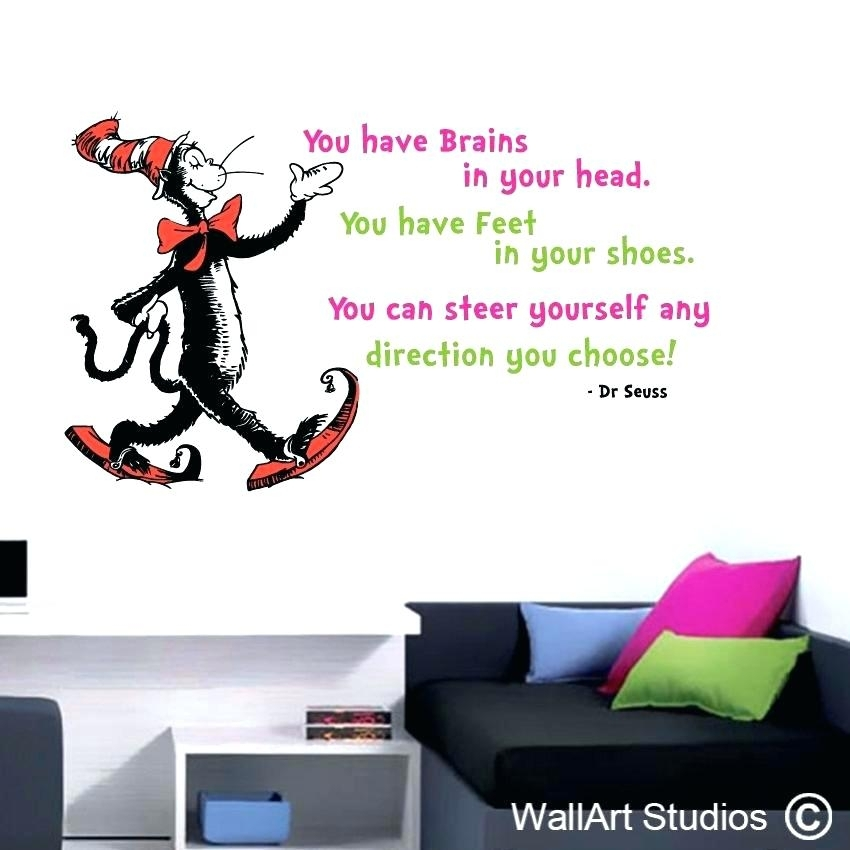 Wall Arts ~ Dr Seuss Wall Art Arts You Have Brains In Your Head Full With Regard To Dr Seuss Wall Art (Image 19 of 20)