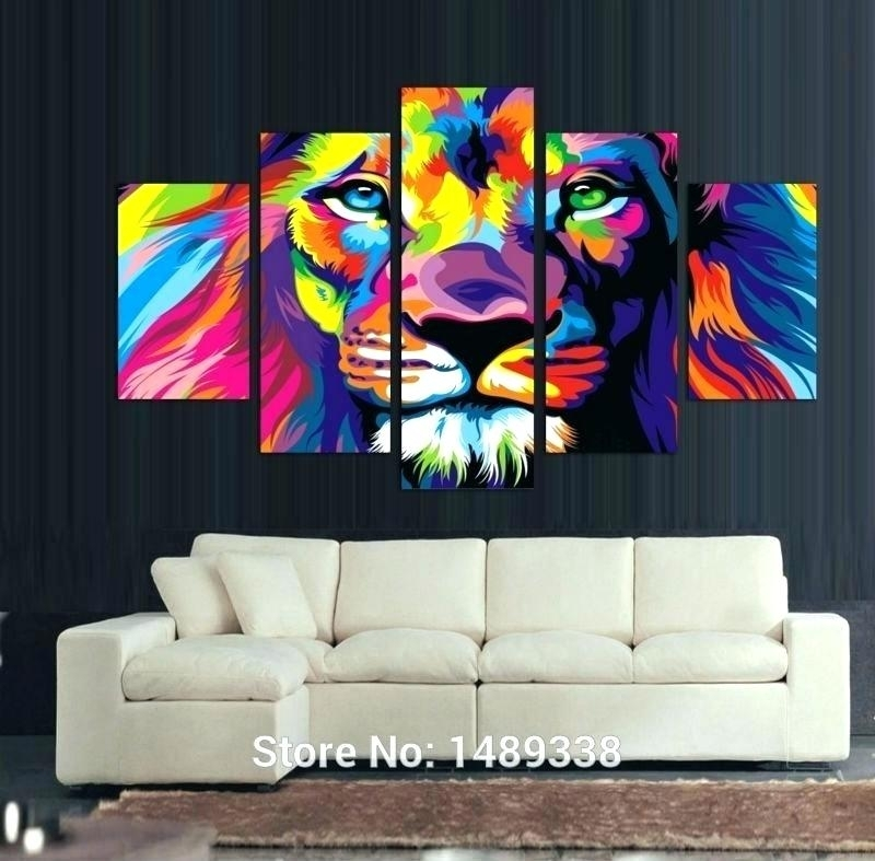 Wall Arts ~ Long Canvas Wall Art Tree 3 Piece 5 Panel Animal Poster With Regard To Long Canvas Wall Art (View 15 of 25)