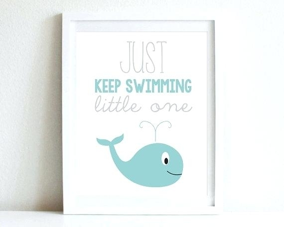 Wall Arts : Nautical Nursery Wall Art Whale Nautical Nursery Wall Intended For Whale Canvas Wall Art (Image 19 of 25)