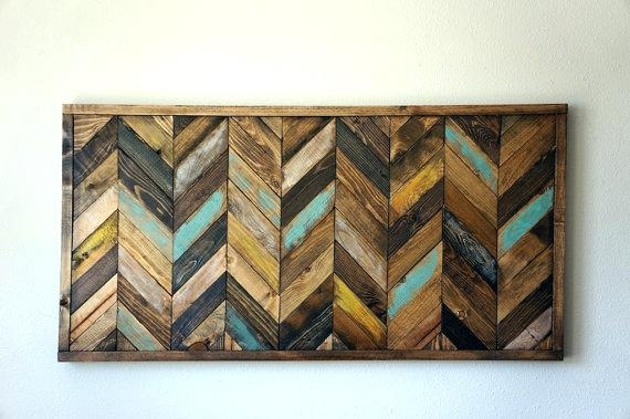 Wall Arts ~ Rustic Wood Wall Art Wooden Chevron Walls And Woods Within Chevron Wall Art (View 4 of 25)