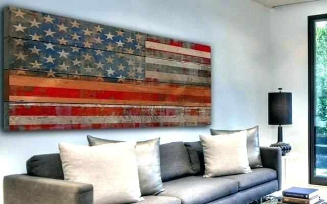 Wall Arts ~ Wooden American Flag Wall Art Woods Woodworking And With Wooden American Flag Wall Art (Image 11 of 25)