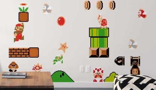 Wall Decal: Inspiring Nintendo Wall Decals For Kids Room Super Mario Within Nintendo Wall Art (Image 20 of 20)