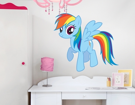 Wall Decal My Little Pony – Rainbow Dash Wallsticker Wall Decal Wall Regarding My Little Pony Wall Art (View 3 of 20)
