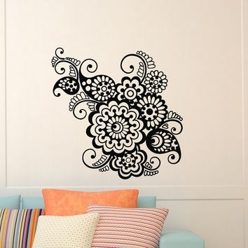 Wall Decal Vinyl Sticker Indian Pattern From Wisdomdecals On Etsy In Mandala Wall Art (Image 23 of 25)