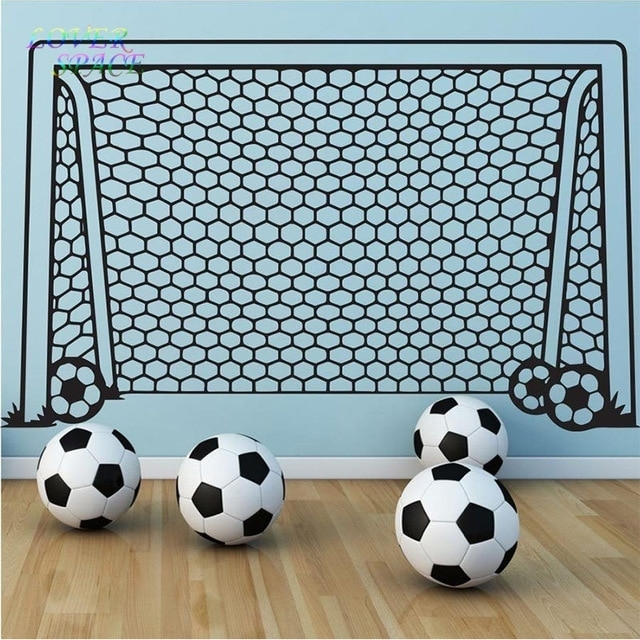 Wall Decals Vinyl Decor Art Wall Sticker Soccer Football Goal Net With Regard To Soccer Wall Art (View 15 of 25)