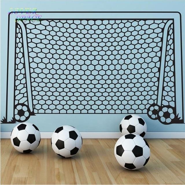 Wall Decals Vinyl Decor Art Wall Sticker Soccer Football Goal Net With Regard To Soccer Wall Art (Image 24 of 25)