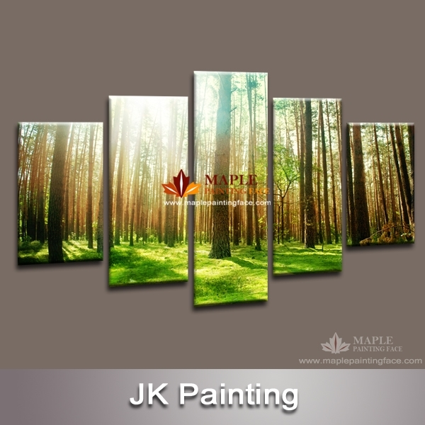 Wall Decor Canvas 5 Piece Canvas Art Decorative Painting Canvas With 5 Piece Wall Art Canvas (View 10 of 10)